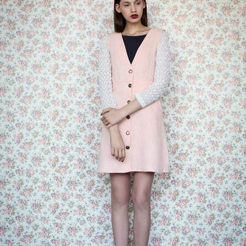 Pinafore dress, Jumper dress, Womens dress, Pink dress, Formal dress, ON SALE