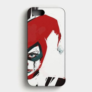 Harley Quinn Watercolor iPhone SE Case