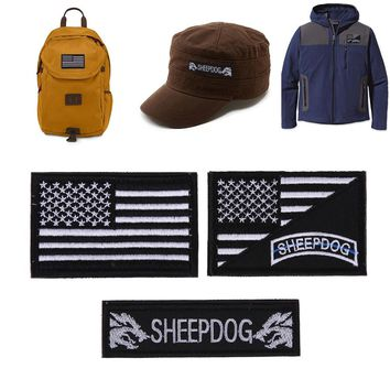 3Pcs/set United States Sheepdog Clothes Patches Morale Tactical Patches Clothes Stickers Embroidery Badge Apparel Fabric Patches