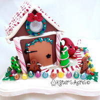 Parker's Christmas Gingerbread House - Twelve Days of Christmas Polymer Clay Decoration