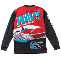 Top Speed L/S Tee True Red Black