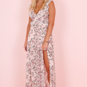 FOR LOVE AND LEMONS | Bee Balm Maxi Dress - Pink Floral