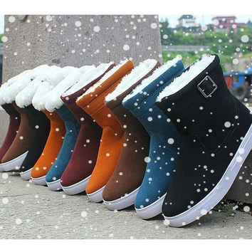 Fashion grocery store The trend of men and women warm winter boots snow boots in tube padded shoes boots casual cotton non-slip boots
