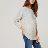 Blurred Fairisle Sweater | LOFT