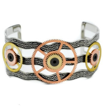 Steampunk Copper Gear Mechanical Bracelet Jewelry
