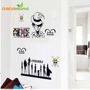 One Piece Wall Sticker Sticker For Living Room Gift For Children Room Decor Japanese anime kid's room Monkey D. Luffy Mural