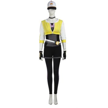 Pokemon GO Team Valor Cosplay Costume Halloween Pokemon Women Costume Pocket Monster Trainer Yellow Version Outfit Custom Made