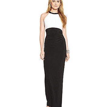 Lauren Ralph Lauren Two-Toned Jersey Gown | Dillards.com