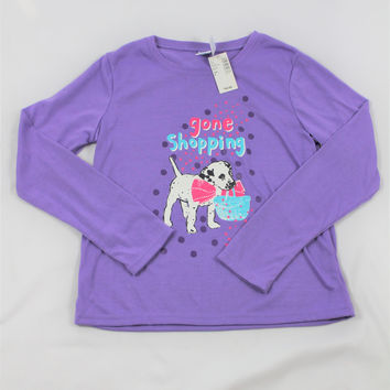 "Girls The Children's Place ""Gone Shopping"" Pajama Top, size Large"