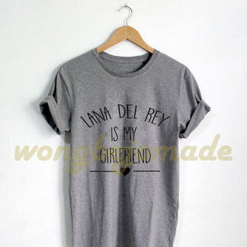 Lana Del Rey Shirt Black Grey Maroon and White Color Tshirt