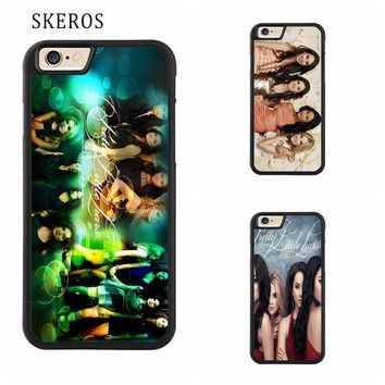 SKEROS pretty little liars Full cover cell phone case for iphone X 4 4s 5 5s 6 6s 7 8 6 plus 6s plus 7 plus 8 plus #ee377