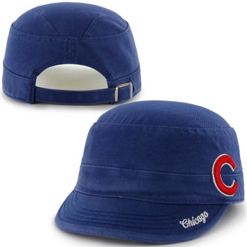 47 Brand Chicago Cubs Womens Avery Miltary Adjustable Hat - Royal Blue