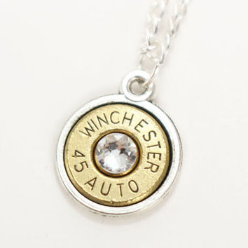 45 Auto Bullet Necklace - Trendy Necklaces - Bullet Jewelry - Birthstone Necklace - Cute Necklaces - Cute Jewelry - Trendy Jewelry - Country