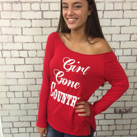 Girl Gone Country Top - Red