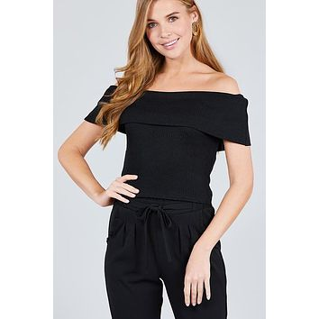 Out In Style Crop Top - Black