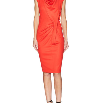 Escada Women's Emaala Ruched Knot Dress - Red -