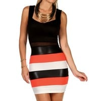 Bodycon Color Block Fitted Dress