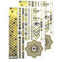 Green Bay Packers NFL Metallic Body Jewelry