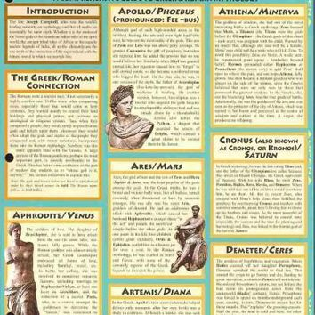 Mythology: Greek and Roman Gods (Quickstudy Reference Guides - Academic)