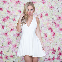 Dreamy Skater Dress In Ivory