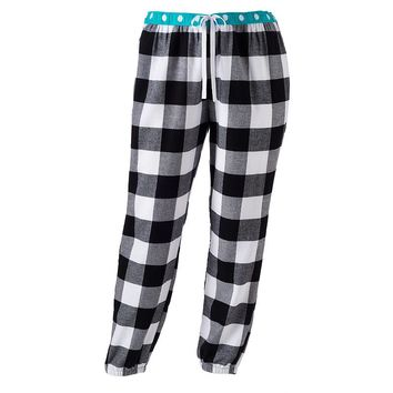 SO Pajamas: Banded-Bottom Flannel Pajama Pants - Juniors' Plus