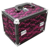 Caboodles Pink Lace Rock Star Train Makeup Organizer Case