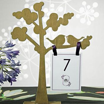 """Wooden Die-cut Trees with """"Love Birds"""" Silhouette (Pack of 1)"""