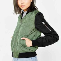 Silence + Noise Quilted Bomber Jacket