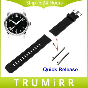 Quick Release Silicone Watch Band for Montblanc Men Women Star Timewalker Sport Rubber Belt Wrist Strap 18mm 19mm 20mm 21mm 22mm