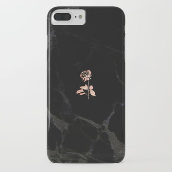 Forever Petal (Black Rose) iPhone Case by onesnowymorning