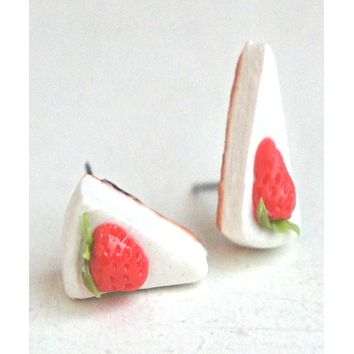 Strawberry Cheesecake Stud Earrings
