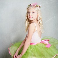 Lime green ribbon candy tutu in lime green with hot by TutusChic