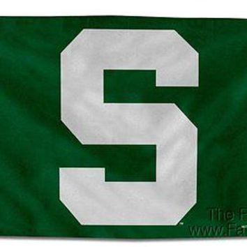 "Michigan State Spartans ""POWER S"" Rico 3x5 Flag w/grommets Banner University of"