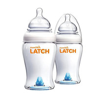 Munchkin Latch BPA-Free Baby Bottle, 8 Ounce, 2 Pack