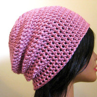 Slouchy Light Pink Beanie Oversized Womens Hipster Slouch Rose Beanie