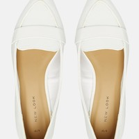 New Look Croc Effect Pointed Shoes