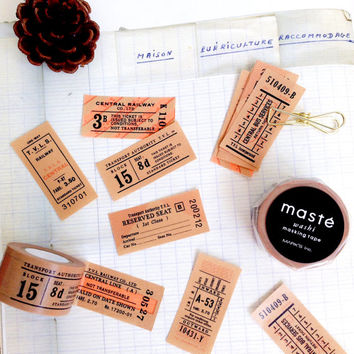 Antique Ticket by maste mt masking washi tape