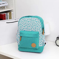 Floral Canvas Ladies School Backpack Bags