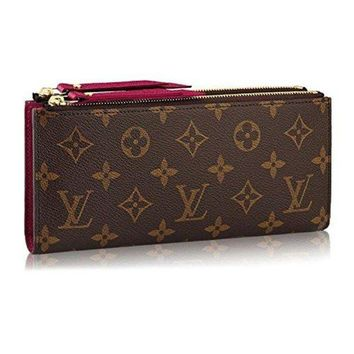 DCCKIN9 Louis Monogram Canvas Adele Wallet Fuchsia Article: M61269 Made in France