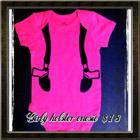 Gun Holster Baby Onesuit by LeiaLove00 on Etsy