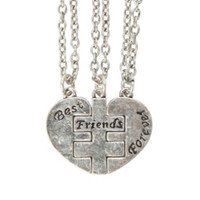 LOVEsick Best Friends Forever Heart Puzzle Necklace Set