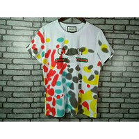GUCCI spring g star with the new paragraph color spots loose T-shirt