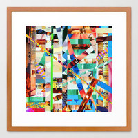 Bianca (stripes 22) Framed Art Print by Wayne Edson Bryan | Society6