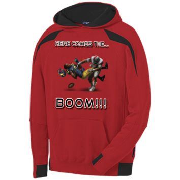 Ohio State Buckeyes vs Michigan Wolverines - Here Comes The Boom Youth Color-Spliced Hooded Sweatshirt