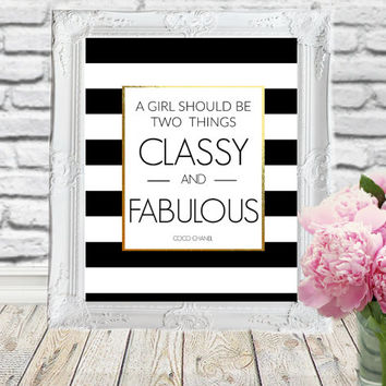 Coco Chanel Quote - Chanel Art Print - Coco Chanel Wall Art - 3 sizes included, Coco Chanel Print