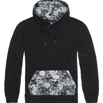 On The Byas Lost Printed Hoodie - Mens Hoodies - Black