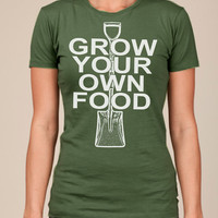 Grow Your Own Food WOMENS T SHIRT american apparel by happyfamily