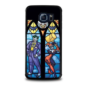 joker and harley quinn art samsung galaxy s6 edge case cover  number 1