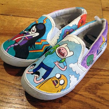 15bac7dd7a54 Custom Shoes Adventure Time Vans or Toms style by MyCustomKicks