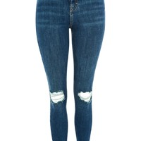 MOTO Authentic Blue Ripped Jeans | Topshop